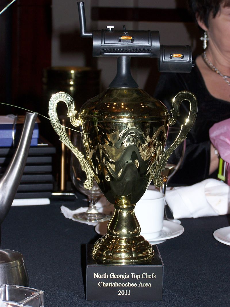 GA-N award banquet Top Chef trophy with cooker
